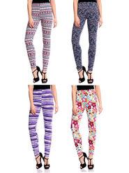 Good Karma Printed Printed Leggings -PAWL8004563