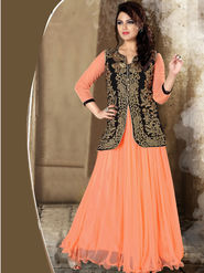 Viva N Diva Net Floral Embroidery Gowns -Purvi-3016