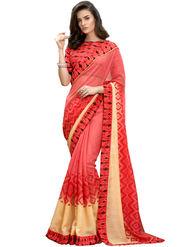 Nanda Silk Mills Linen Printed Saree Sap-1004