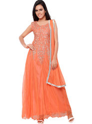 Florence Net Embroidered Semi-Stitched Dress Material  Sb-3159
