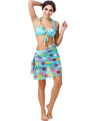 Combo of 3 Fasense Printed Polyester Sea Green Swimsuit -SH003B1