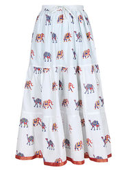 Amore Printed Cotton Skirt -Skv033W
