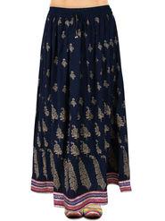 Amore Printed Rayon Skirt -SKV093DB