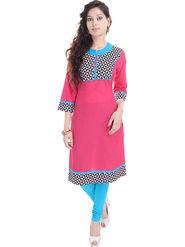 Shop Rajasthan Printed Cotton Straight Kurti -Sre2434