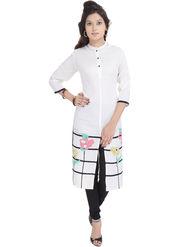 Shop Rajasthan Printed Rayon Long Straight Kurti -Sre2460