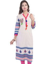 Shop Rajasthan Printed Cotton  Straight Kurti -Sre2509