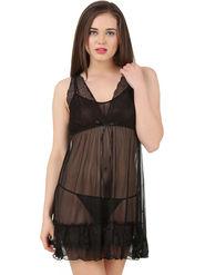 Fasense Power Net Solid Nightwear Babydoll Slip -SS080B2