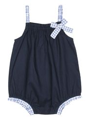 ShopperTree Solid Navy Blue Cotton Romper-ST-1712