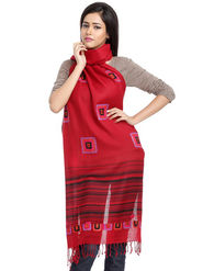 Aapno Rajasthan Pashmina  Red Shawl -St1429