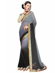 Khushali Fashion Georgette Embroidered Saree -Stast3201