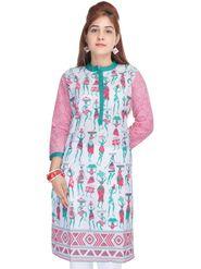 Shop Rajasthan 100% Pure Cotton Printed Kurti - Multicolor - SRE2272