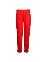 ShopperTree Red Cotton Lycra Pants