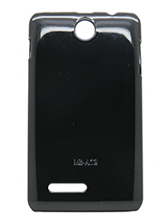 Snooky Back Cover for Micromax Canvas Viva A72 - Black