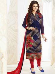 Thankar Semi Stitched  Georgette Embroidery Dress Material Tas270-0765
