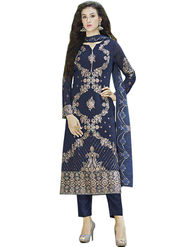 Thankar Semi Stitched  Georgette Embroidery Dress Material Tas281-160G