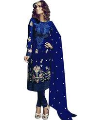 Thankar Semi Stitched  Georgette Embroidery Dress Material Tas282-2155