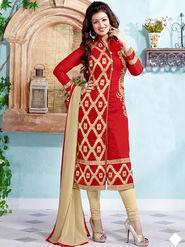 Thankar Semi Stitched  Chanderi Cotton Embroidery Dress Material Tas291-5311