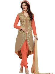 Thankar Embroidered Chanderi Cotton Semi-Stitched Suit -Tas315-6301