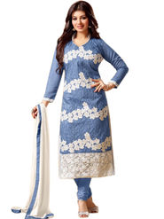 Thankar Embroidered Cotton Semi-Stitched Suit� -Tas337-1556