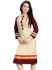 Thankar Plain Cotton Semi Stitched Designer Kurti -Tdk119-1172