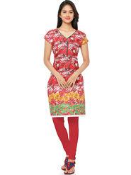 Thankar Printed Cotton Stitched Designer Kurti -Tdk136-At2