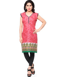 Thankar Printed Cotton Stitched Designer Kurti -Tdk136-At4