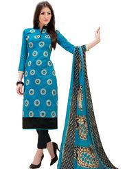 Thankar Thread Embroidered Chanderi Unstitched Dress Material -Tdm127-4001