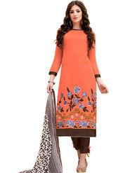 Thankar Thread Embroidered Chanderi Unstitched Dress Material -Tdm127-4010