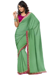 Triveni's  Georgette Border Work Saree -TS13062