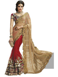Triveni's Net Embroidered Saree -TSMN2716