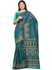 Triveni Printed Cotton Green Saree -tsb57
