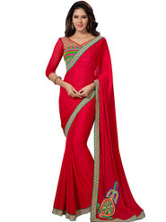 Triveni Embroidered Chiffon Saree -Tsn40007
