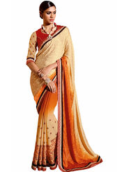 Triveni's  Georgette Jacquard Border Work Saree -TSN97027