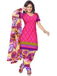 Triveni's Polyester Printed Dress Material -TSSTPMSK10009