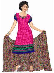 Triveni's Polyester Printed Dress Material -TSSTPMSK10011