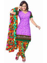 Triveni's Polyester Printed Dress Material -TSSTPMSK10012