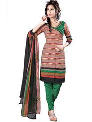 Triveni Blended Cotton Printed Dress Material - Multicolor - TSSDHSK1307