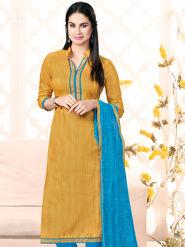 Viva N Diva Semi Stitched Bhagalpuri Silk Embellished Suit Utsav-5012