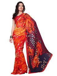 Variation Georgette Printed Saree -VD14835