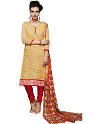 Khushali Fashion Chanderi Embroidered Unstitched Dress Material -VSIDC451011