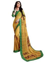 Khushali Fashion Georgette Saree(Beige)_YNDST20423