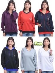 Pack of 6 Eprilla Plain Sweatshirts & Sweater -eprl84