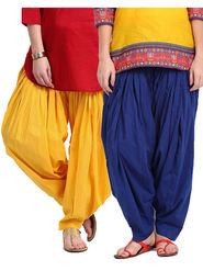 Combo of 2 Javuli Plain Pure Cotton Semi Patiala Salwar-ja86