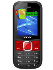 VOX V3100 Triple SIM Phone - Black