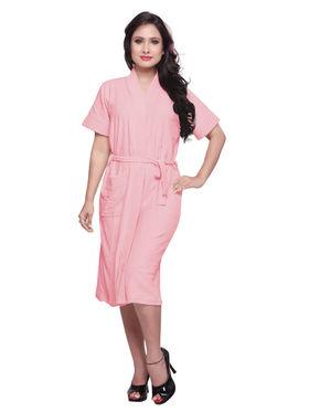 Baby Pink Turkish Cotton Bathrobe_DB-BR-RTM-208