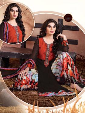 Viva N Diva  Embroidered Pure Chanderi Silk Semi Stitched Suit 10024-Elnaaz