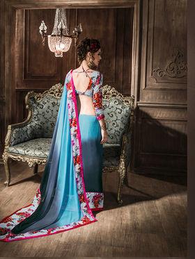 Viva N Diva Georgette  Printed Saree 10119-Tia