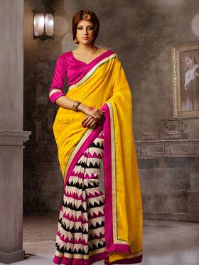 Viva N Diva Printed Bhagalpuri Saree -sa02