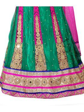 Viva N Diva Embroidered Semi Stitched Net Lehenga -10527-Ami