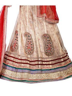 Viva N Diva Embroidered Semi Stitched Net Lehenga -10540-Ami